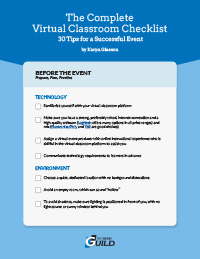 The Complete Virtual Classroom Checklist: 30 Tips for a Successful Event