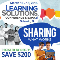 Learning Solutions 2016 - Sharing What Works