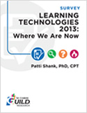 The eLearning Guild : Learning Technologies 2013: Where We Are Now : Research Library
