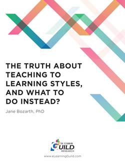 Research: The Truth About Teaching to Learning Styles, and What to Do Instead?