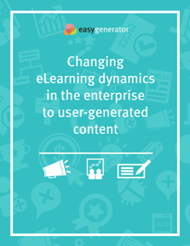 Changing eLearning dynamics in the enterprise to user-generated content