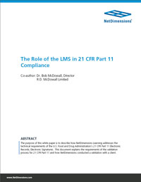 The Role of the LMS in 21 CFR Part 11