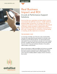 Real Business Impact and ROI - A Look at Performance Support Solutions